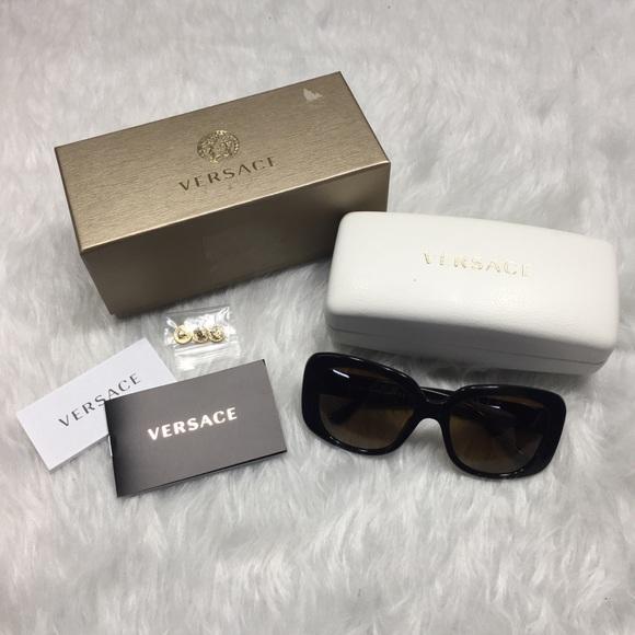 503ae83b2e7a Versace polarized sunglasses 4284 black plastic